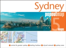 Sydney PopOut Map, Sheet map, folded Book