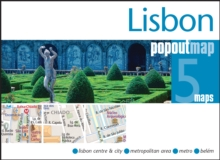 Lisbon PopOut Map, Sheet map, folded Book
