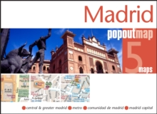 Madrid PopOut Map, Sheet map, folded Book
