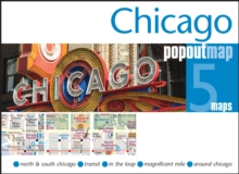 Chicago Popout Map, Sheet map, folded Book