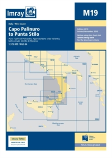 Imray Chart M19 : Capo Palinuro to Punta Stilo, Sheet map, folded Book