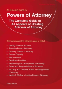 Powers Of Attorney, Paperback Book