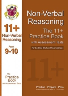 11+ Non-verbal Reasoning Practice Book with Assessment Tests (Age 9-10) for the CEM Test, Paperback Book