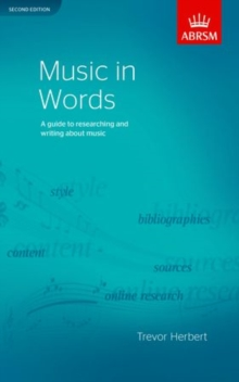 Music in Words, Second Edition : A guide to researching and writing about music, Sheet music Book