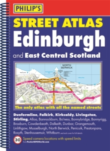 Philip's Street Atlas Edinburgh and East Central Scotland, Spiral bound Book