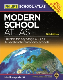 Philip's Modern School Atlas : 98th Edition, Hardback Book
