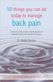 50 Things You Can Do Today To Manage Back Pain, Paperback Book