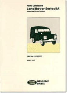 Land Rover Series 2A Bonneted Control Parts Catalogue, Paperback Book