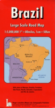 Brazil National Road Map, Sheet map, folded Book
