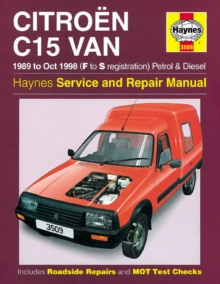 Citroen C15 Van Service and Repair Manual, Hardback Book