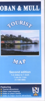 Oban & Mull Tourist Map, Sheet map, folded Book