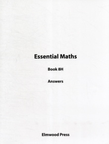 Essential Maths Book 8H Answers, Paperback Book