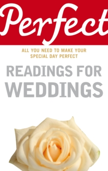 Perfect Readings for Weddings, Paperback Book