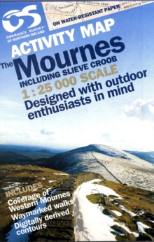 Mournes Activity (inc Croob), Sheet map, folded Book