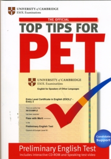 The Official Top Tips for PET Paperback with CD-ROM, Mixed media product Book