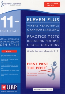 11+ Verbal Reasoning Grammar & Spelling for CEM, Multiple Choice Practice Tests Included, Paperback Book