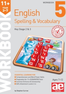 11+ Spelling and Vocabulary Workbook 5 : Intermediate Level, Paperback Book