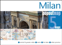 Milan Popout Map, Sheet map, folded Book