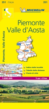 Piemonte and Vallee Aoste, Sheet map, folded Book