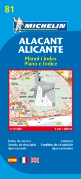Map 9081 Alicante, Sheet map, folded Book