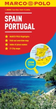 Spain & Portugal Map, Sheet map, folded Book