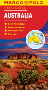 Australia Marco Polo Map, Sheet map, folded Book