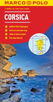 Corsica Marco Polo Map, Sheet map, folded Book