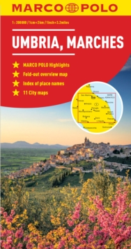Umbria and the Marches Marco Polo Map, Sheet map, folded Book