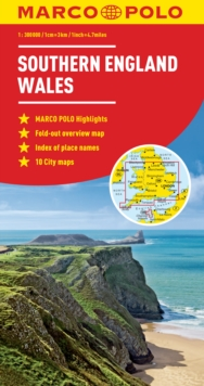 Southern England / Wales Marco Polo Map, Sheet map, folded Book