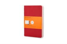 Moleskine Ruled Cahier L - Red Cover (3 Set), Multiple copy pack Book