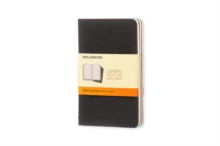 Moleskine Ruled Cahier - Black Cover (3 Set), Multiple copy pack Book