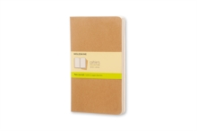 Moleskine Plain Cahier L - Kraft Cover (3 Set), Multiple copy pack Book