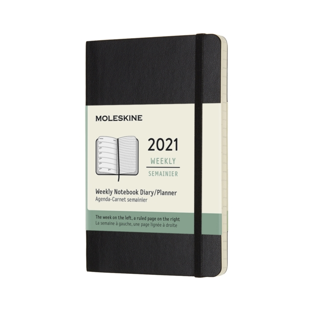 Cover for: Moleskine 2021 12-Month Weekly Pocket Softcover Diary : Black