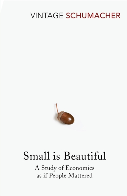 Cover for: Small Is Beautiful : A Study of Economics as if People Mattered