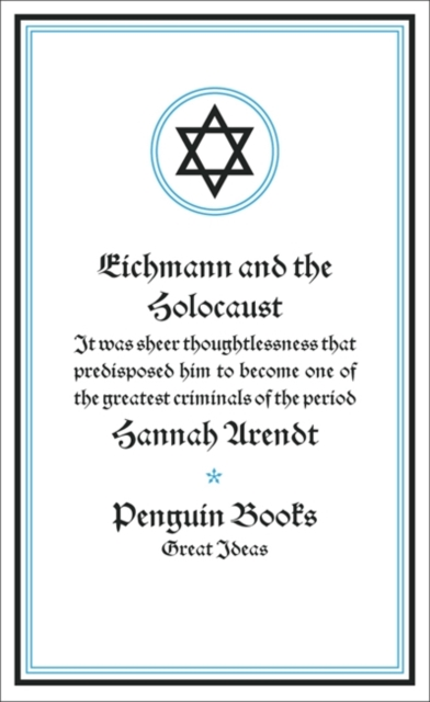 Cover for: Eichmann and the Holocaust