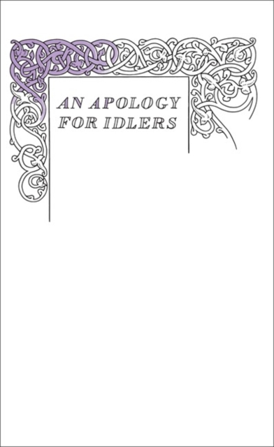 Cover for: An Apology for Idlers