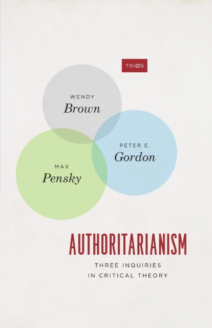 Cover for: Authoritarianism : Three Inquiries in Critical Theory