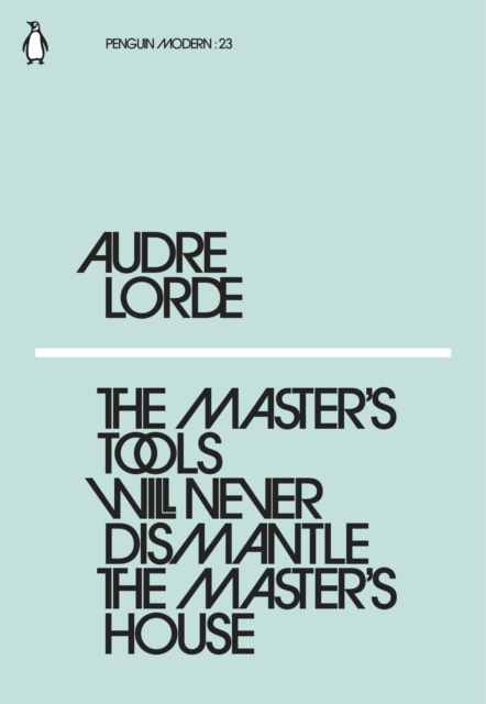 Cover for: The Master's Tools Will Never Dismantle the Master's House
