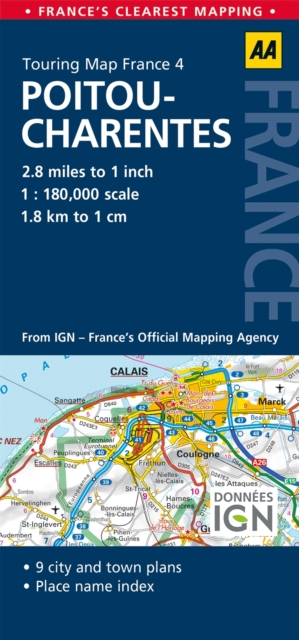 AA Road Map Pitou-Charentes (AA Touring Map France 04) (Road Map . 9780749575489