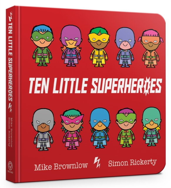 Cover for: Ten Little Superheroes Board Book