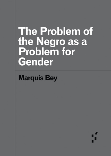 Cover for: The Problem of the Negro as aProblem for Gender
