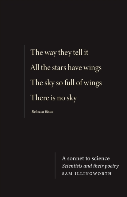 Image for A Sonnet to Science : Scientists and Their Poetry