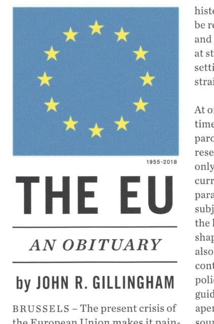 Cover for: The Eu : An Obituary