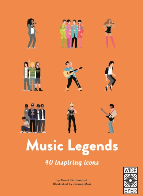 Image for 40 Inspiring Icons: Music Legends : Meet 40 pop and rock stars