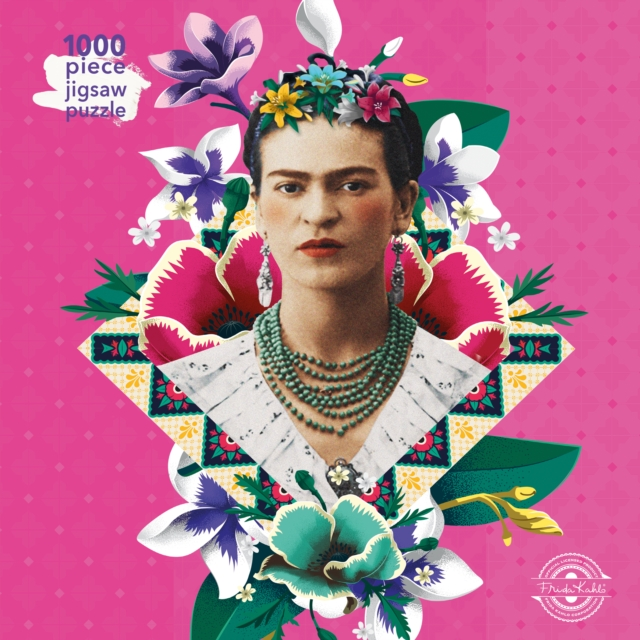 Image for Adult Jigsaw Puzzle Frida Kahlo Pink : 1000-piece Jigsaw Puzzles