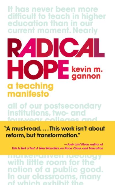 Cover for: Radical Hope : A Teaching Manifesto