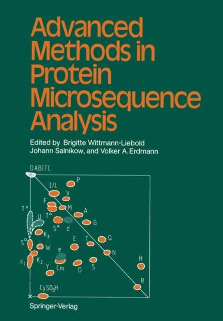Advanced Methods In Protein Microsequenc, Wittmann-Liebold, Brigi. 9783642715365